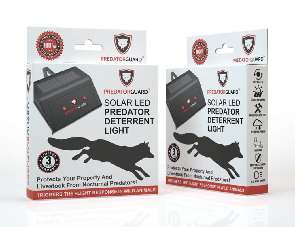 Predator Guard Solar Powered Predator Deterrent Light Scares Nocturnal Pest Animals Away, Chicken Coop Accessories