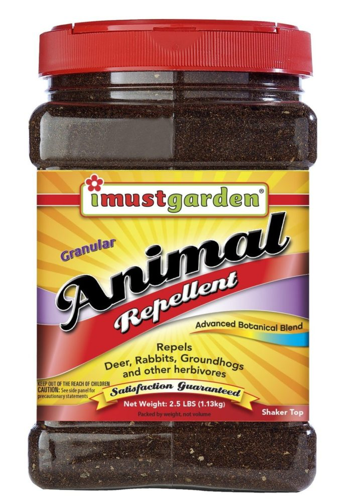 I Must Garden Animal Repellent 2.5lb Granular (Deer, Rabbit, Groundhog, And Other Herbivores)
