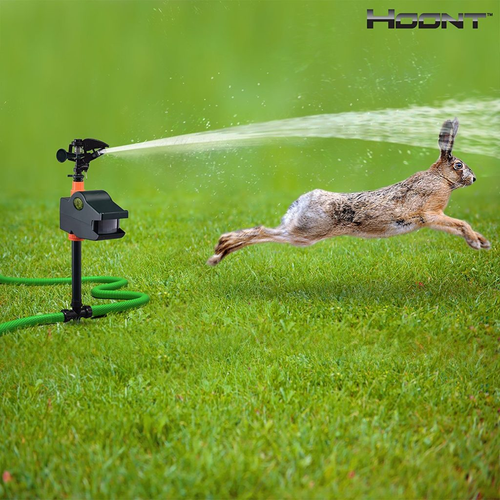 Hoont Powerful Outdoor Water Jet Blaster Animal Pest Repeller – Motion Activated - Blasts Cats, Dogs, Squirrels, Birds, Deer, Etc. Out of Your Property