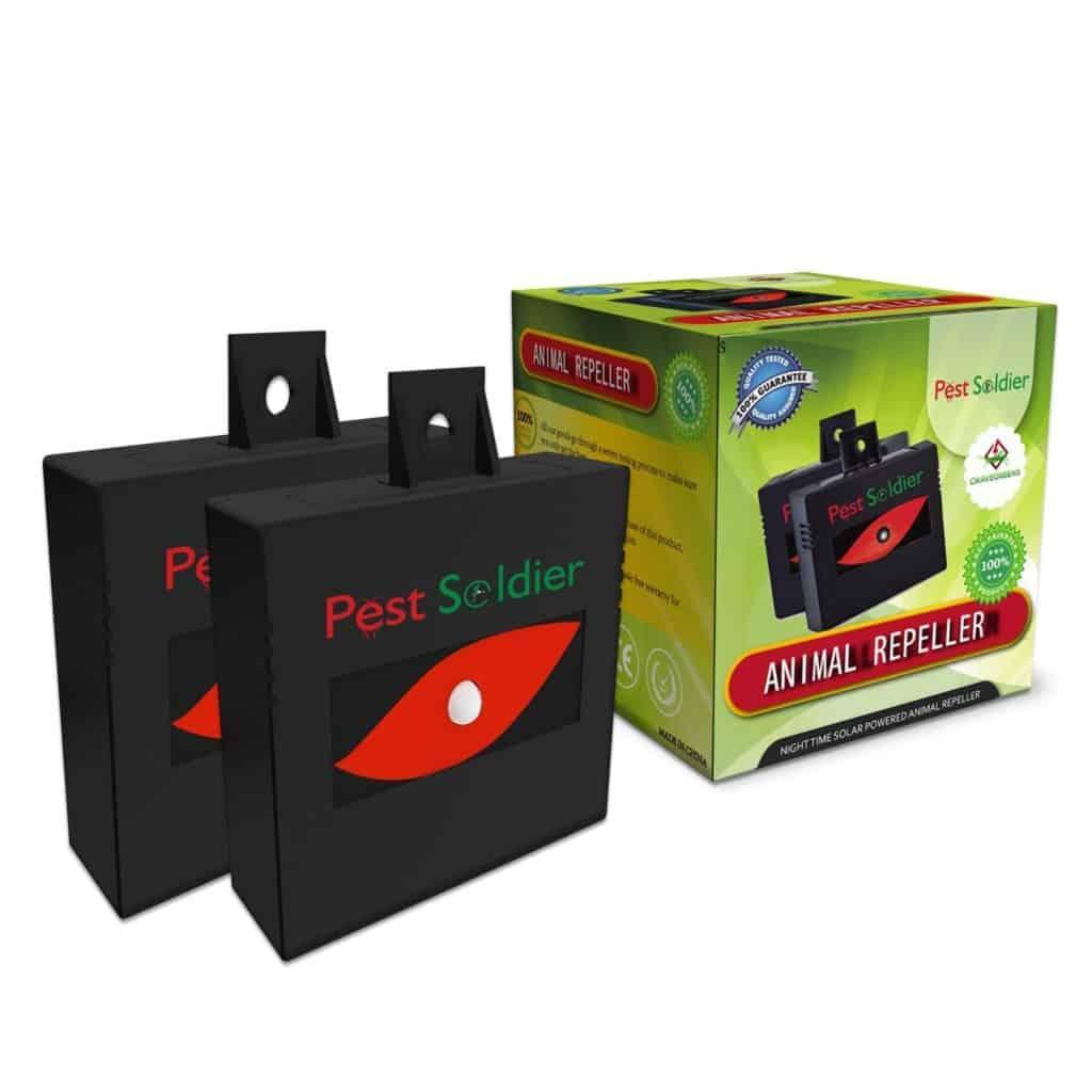 Nighttime Solar Powered Animal Repeller Groundhog Repellent