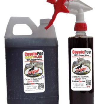 Predator Pee – 100% Pure Coyote Urine – 64oz Refill Jug 16oz Sprayer Combo