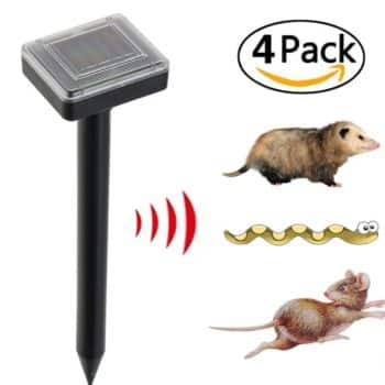 X-CHENG Sonic Mole Repellent - Solar Powered Pest Control and Animal Repellent- Environmentally Friendly & Harmless To The Human Body - Protect Your Lawn Garden Yard Outdoor - Rainproof(4 packs)