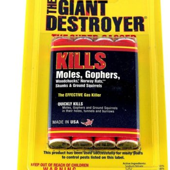 Giant Destroyer 00333 Gas Bomb - Gopher, Mole and Rat Killer - Pack of 2 4packs (8 total)