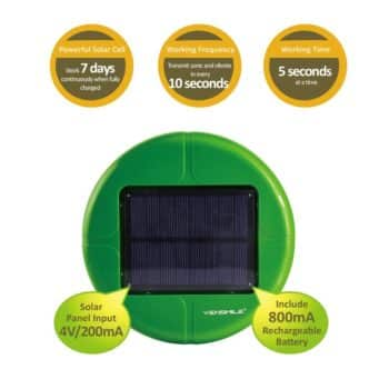 VENSMILE Solar Powered Mole Repeller Repel Mole Voles Gopher Mice and Rats UPGRADED VERSION