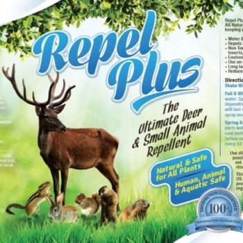 Repel PLUS Deer & Small Animal Repellent Concentrate (Repels Deer, Chipmunks, Rabbits, Voles, Squirrels, Groundhogs) (32 oz)