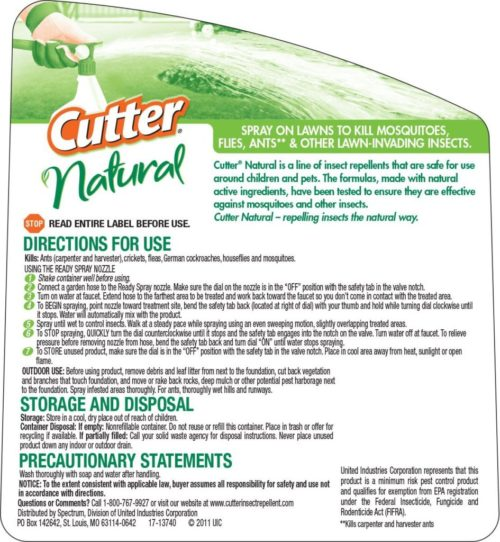 Cutter Natural Bug Control Spray Concentrate (HG-95962) (32 fl oz)