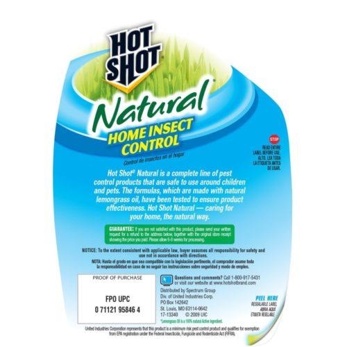 Hot Shot 95846 Natural Home Insect Control Pump Spray, 24-Ounce