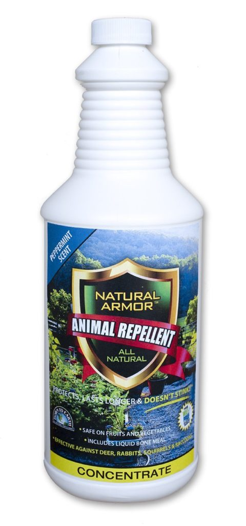 Repellent Spray for Rodents & Animals. Cats, Rats, Squirrels, Mouse & Deer. Repeller & Deterrent for Dogs, Critters, Mice, Raccoon & Skunk. Natural Armor Peppermint Quart Concentrate