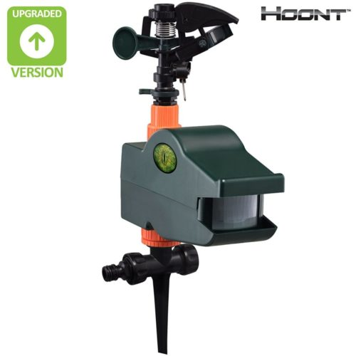 Hoont Powerful Outdoor Water Jet Blaster Animal Pest Repeller – Motion Activated - Blasts Cats, Dogs, Squirrels, Birds, Deer, Etc. Out of Your Property [UPGRADED VERSION]