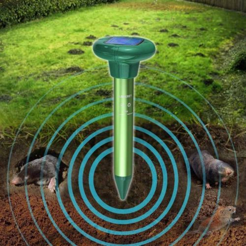 LOMEREY 4 Pack Mole Repellent Solar Gopher Repellent Vole Repellent Rodent Repellent Ultrasonic Mice Repellent Ultrasonic Pest Repeller Rat Repellent Pest Control Products