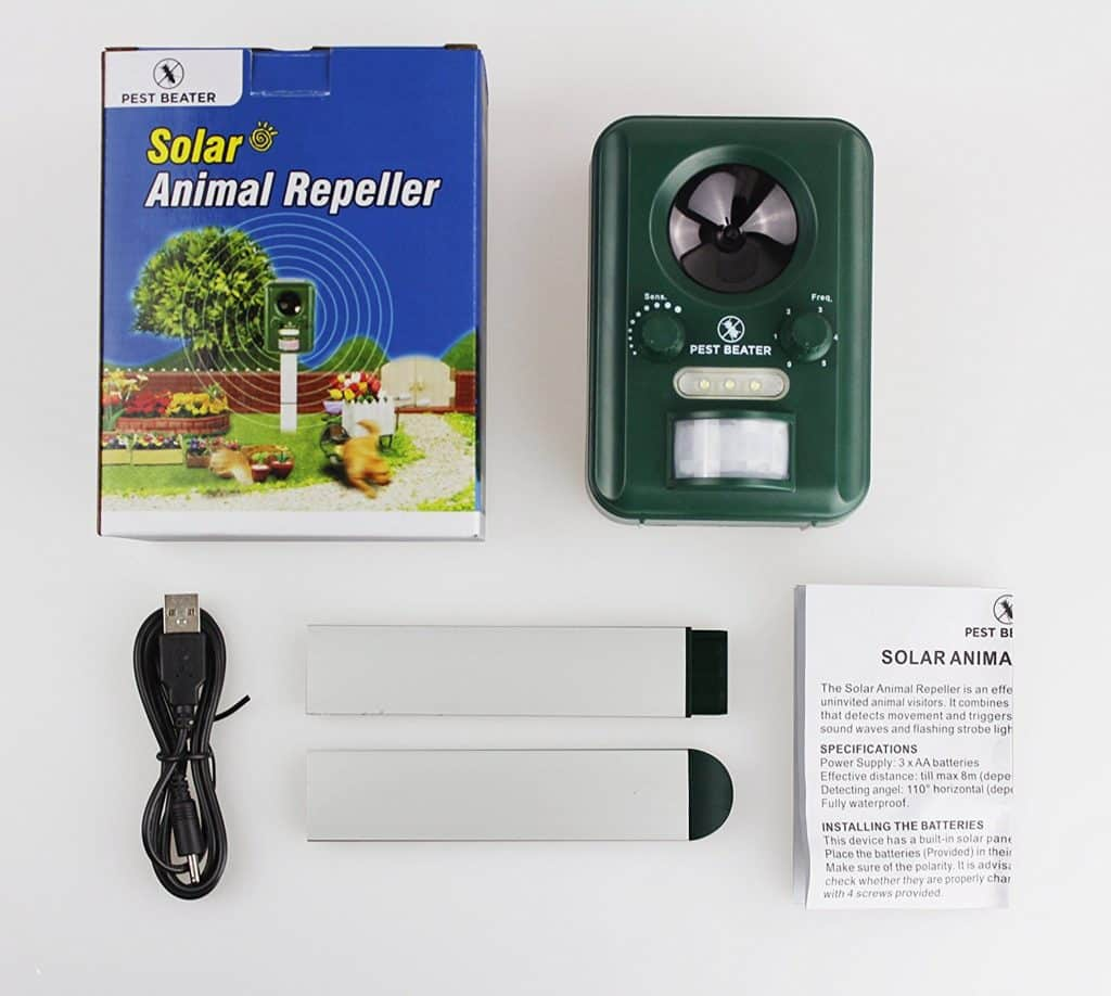 2378b118e7f0 Ultrasonic Solar Pest Repellent. Best Outdoor Electronic Repeller   Control  for Birds Geese Pigeons Dogs