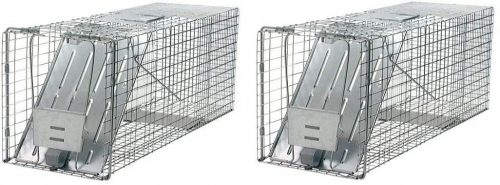 Havahart 1079 Large 1-Door Humane Animal Trap for Raccoons, Cats, Groundhogs, Opossums (Pack of 2)